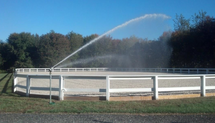horse arena water